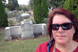 Gravesite of Margaret Mitchell with author Alex Trenoweth